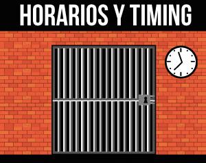 horarios y timing